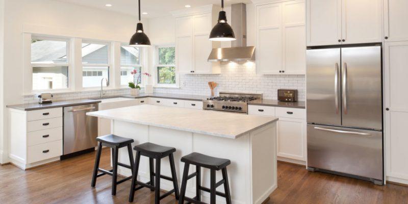 Serikan Ruang Dapur Kediaman Dengan 4 Pilihan Lampu Unik Ini